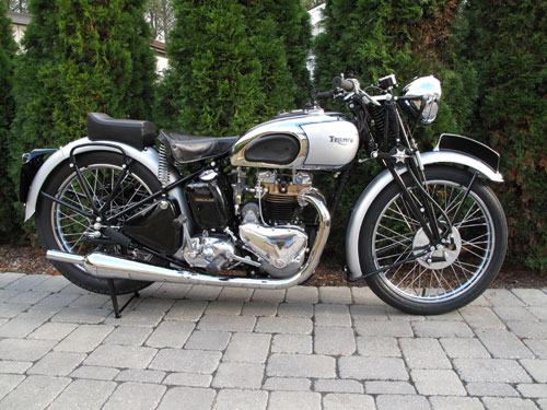1940 T100 Triumph after restoration