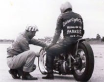 Builder John Melniczuk, Sr. and rider Tommy Grazias